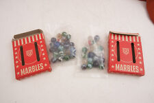 Two Boxes USA MAde Marbles RED GOOSE SHOES Advertising (A2L) Akro Agate Type