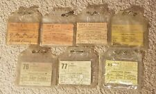 Lot of 7 Vintage 1965-1985 Fishing License  CT Connecticut 65 72 74 75 76 77 85