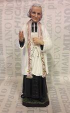 Statua Santo Curato D'Ars in gomma cm 15