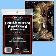 BCW: Polypro Sleeves: LARGE POSTCARD SIZE:  100ct:  1 Pack      *FREE S&H in USA