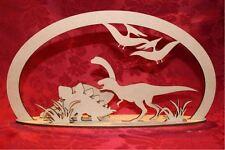 Mdf en bois en bois dinosaure vallée autonome à découpe laser scène craft decorati...