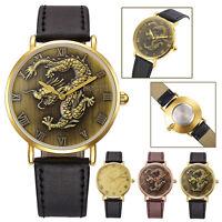 Retro Men Leather Band Watch Casual Alloy Casual Analog Quartz Wrist Watch