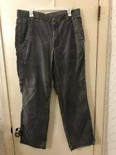 Worn THE NORTH FACE 100% Cotton Gray Pants Men's Size 36 Regular (36x31)  VGC !