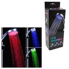 DEL douche Capteur Tête Multicolore Changing Rainbow Tuyau et lumières