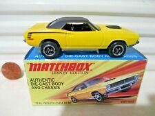 MATCHBOX 2011 LESNEY EDITION SUPERFAST Metal Base 1970 Plymouth Cuda HEMI NuBoxd
