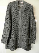 Millers Ladies Black & Grey Thick Knit Cardigan Size XL 'NEW'