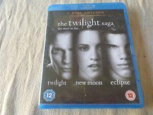 The Twilight Saga - Twilight / New Moon / Eclipse (3x Blu-Ray, 2011) Region B