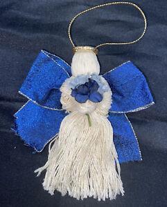 Vintage Handmade Yarn Christmas Angel Ornament