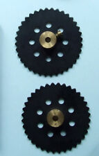 """Mecanno 1950's - PART No.95 2"""" Sprocket Wheel (Black) x 1"""