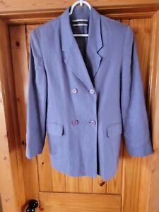 Womens Double Breasted Linen Blazer. Lavender In Color.