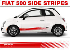 Fiat 500 500c Side Stripe Decal Stickers Graphics Abarth Style Premium