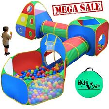 Hide N Side Kids Ball Pit Play Tents Tunnels w/ Basketball Hoop &more FREE SHIP!