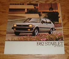 Original 1982 Toyota Starlet Deluxe Sales Brochure 82