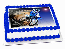 TRAIL BIKE 3D EFFECT *REAL EDIBLE ICING* CAKE IMAGE TOPPER FROSTING SHEET
