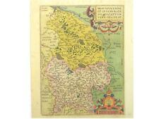 1 Orig.altkolor.Kupferstichk Ortelius  BRAUNSCHWEIG LÜNEBURG