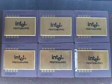 6X INTEL PENTIUM PRO VINTAGE  FOR GOLD SCRAP RECOVERY