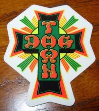 "DOGTOWN dog town Skate Sticker Red Blak Cross 2 X 1.5"" skateboards helmets decal"