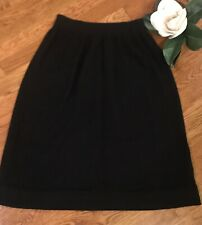 VTG Regatta Sport Womens Black Skirt Lambswool Angora Blend Size Large