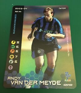 FIGURINA CARDS WIZARDS FOOTBALL CHAMPIONS 2003-04 FOIL INTER VAN DER MEYDE