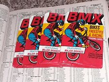 1984 Donruss BMX Wax Pack Cards RARE BUBBLEGUM SCARCE