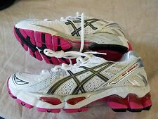 ASICS Gel Kayano 17 Running Shoes Women's Size 7 White Silver & Pink NEW