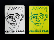 Grateful Dead Backstage Pass Jerry Garcia Bob Weir Art Sketch Two 2 1990s Passes