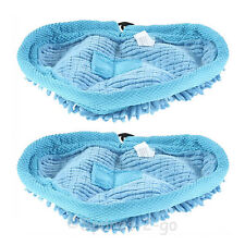 2x Pifco 6 in 1 Microfibre Coral Steam Mop Cleaning Cloth Pads Reusable Washable