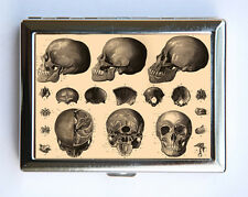 Anatomy Skulls Cigarette Case Wallet Business Card Holder gothic victorian