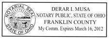 Ohio NEW Self-Ink OFFICIAL NOTARY SEAL RUBBER STAMP Office use