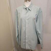 VINTAGE 90's Polo Ralph Lauren The Big Shirt Blue & White Button Down Shirt XXL