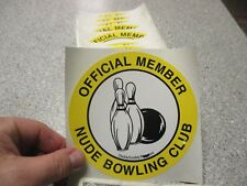 10 Qty NUDE BOWLING humor bumper sticker novelty wholesale lot ball & pin design