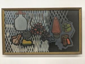 Handsome Early Abstract Flattened Still Life Oil Painting- after Filla, Matisse
