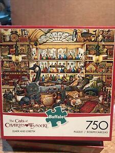 The Cats of Charles Wysocki Elmer and Loretta 750 Piece Jigsaw Puzzle New