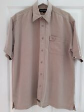 "Thomas Browne short sleeved Shirt 46"" chest Beige"