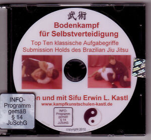 DVD Top Ten Submissions Brazilian Jiu Jitsu  Grappling Ringen Aufgabegriffe