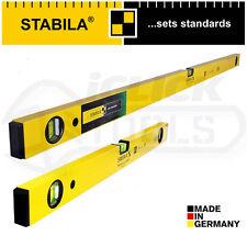 "STABILA 70-2 Heavy Duty 3 FLACONE Beam Livella 120cm 4' 48"" & 60cm 24"" 2ft"