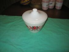 ANCHOR HOCKING FIRE KING MODERN TULIP GREASE JAR WITH LID