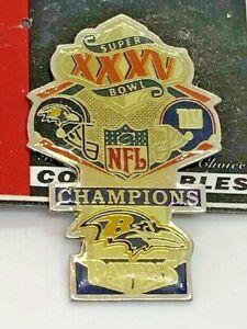 Super Bowl XXXV 35 Commemorative Lapel Pin Baltimore Ravens vs New York Giants