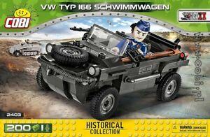 COBI  VW Typ 166 Schwimmwagen / 2403 / 200  blocks WWII German amphibious car
