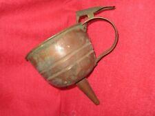 """Antique Thumb Controlled Copper Funnel With Strainer, 5 1/2"""" x 6 3/4"""""""