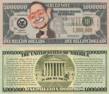 Bono Caricature Million Dollar Tract Funny Money Novelty Note + FREE SLEEVE