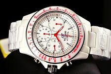 Invicta Men 45mm S1 Rally Overdrive Chronograph White Ceramic Case Bracelet Watc