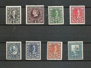 MONTENEGRO les 8 timbres de 1910 neuf *