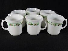 6 Corelle Corning Mugs Coffee Cups Winter Holly & Berries, EUC, Look Unused