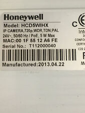 Honeywell HCD 5 wihx POE IP Cámara CCTV 720P