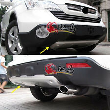 Aluminium Alloy Front+Rear Bumper Protector Skid Plate For Honda CRV CR-V 07-09