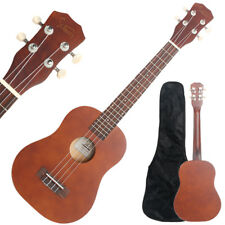 "26"" Brown Tenor Ukulele Guitar Basswood 18 Frets Hawaiian Instrument w/ Bag"