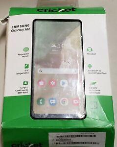 Samsung Galaxy A12  - 32GB - Black (Cricket Wireless) DISTRESSED BOX
