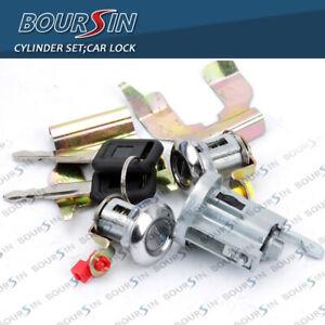 Car Lock Cylinder Set For Isuzu NPR NQR NKR 1994-07 W/ Clips Ignition door lock