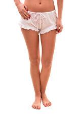 Femme Wildfox Nouveau Intimates Sommeil Short Blanc Taille L RRP £ 70 BCF712